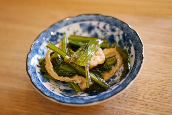 農家カフェそらべじ 小松菜の煮浸し
