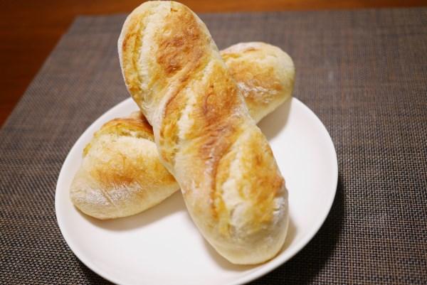 ふっくらできたフランスパン